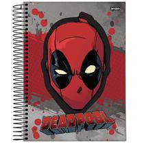 Caderno Universitário - Deadpool - Cabeça - 200 folhas - Marvel