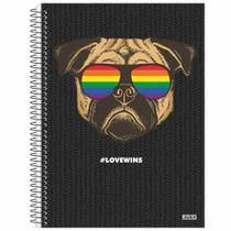 Caderno Universitário Love Wins 10 Matérias - SD -