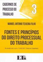 Cadernos Processo do Trabalho N 3 - Fontes e Princípios do Direito Processual do Trabalho - 01Ed/18 - Ltr Editora