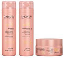 Cadiveu Hair Remedy Kit Shampoo (250ml), Condicionador (250ml) e Máscara Reparadora (200ml) -