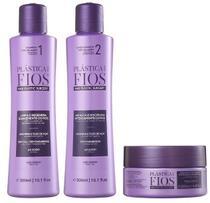 Cadiveu Plástica dos Fios Kit Reconstrução Imediata Shampoo (300ml), Condicionador (300ml) e Máscara (200g) -
