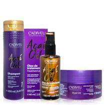 Cadiveu Professional Acai Oil Kit Home Care de Limpeza E Cuidados (shampoo 250ml + Mascara 200ml + O -