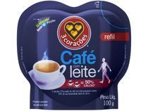 Café com Leite 3 Corações Refil 100g -