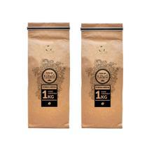 Café  em grãos - kit 2kg econômico - café kawá - Fazenda Jotacê & Kawá