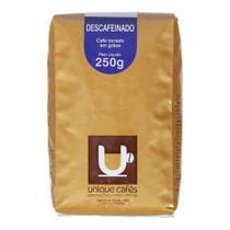 Café Unique Torrado Em Grãos Descafeinado 250g -
