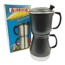 Cafeteira Aluminio Econômica Italiana Preto Com Filtro - Extra Forte