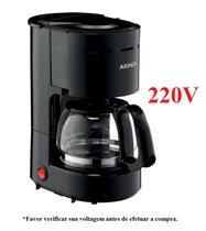 Cafeteira arno filtro 12 cafes preto 0,6l 220v -