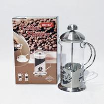 Cafeteira/Cremeira Prensa francesa De Inox e Vidro 600ML - Linran