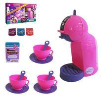 Cafeteira e acessórios café expresso infantil - 14 pçs - Zuca Toys