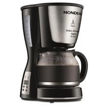 Cafeteira Elétrica Digital Mondial Dolce Aroma Inox - Timer Programável - Filtro Permanente - Jarra 1,2L - C-31DG-32X -