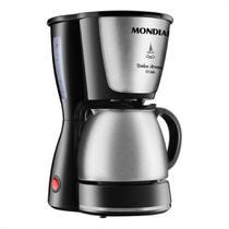 Cafeteira Elétrica Mondial Dolce Arome Inox C34JI 127V Preto 15 Xícaras Jarra Inox Simples -