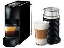 Cafeteira Espresso Nespresso Combo Essenza Mini - Preta + Aeroccino 3 com 14 Cápsulas