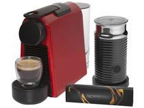 Cafeteira Espresso Nespresso Combo Essenza Mini - Vermelha + Aeroccino 3 com 14 Cápsulas
