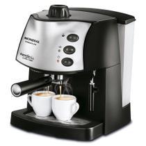 Cafeteira expresso 15 Bar preta e prata - Coffee Cream C-08 (110V) - Mondial