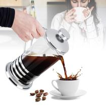 Cafeteira francesa 350 ml café e chá vidro e aço inoxdável - TOPCHEF