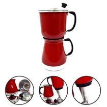 Cafeteira Italiana Econômica Alumínio Café 1500ml Vermelha - Alumínio extra forte