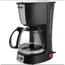 Cafeteira Mallory Aroma 16 xicaras de café filtro permanente preta e prata 220V -