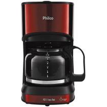 Cafeteira Philco Inox 600ml 15 Cafezinhos 550W Vermelho - PCF17 -