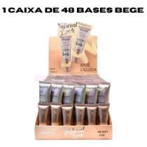 Caixa 48 Base líquida Bege Ruby Rose Natural Look HB - 8051  Bege 2, Bege 3, Bege 4, Bege 5, Bege 6, Bege 7, Bege 8 -