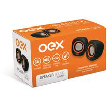 Caixa Acustica para Computador Speaker Round 8W USB/P2 PT/LJ - Comprasjau