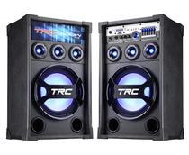 Caixa Acústica TRC 369 Bluetooth Amplificada 400W com Iluminação -