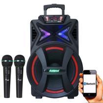 Caixa Amplificada Amvox 501 5000w Bluetooth com 2 Microfones - Geral