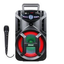 Caixa Amplificada Amvox ACA 188 GIGANTE - 180w 1 Microfone -