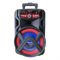 Caixa Amplificada Amvox Recarregável Bluetooth Usb Microsd Auxiliar Bivolt 250w Aca 250 Groove -