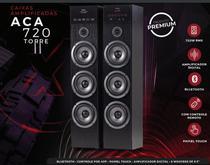 Caixa Amplificada Amvox Torre Touch Screen Display Led Controle Remoto Aplicativo ACA 720 -