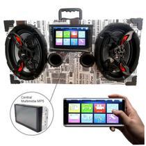 Caixa Amplificada Bluetooth 6x9 Bomber Multimidia - Jornal -