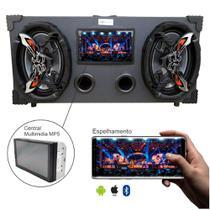 Caixa Amplificada Bluetooth 6x9 Bomber Multimidia - Preta -
