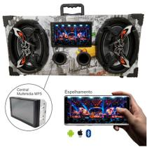 Caixa Amplificada Bluetooth bar Usb 6x9 Bomber + Multimidia -