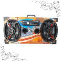 Caixa Amplificada Bluetooth UBS 6x9 Bomber Rádio - Americana -
