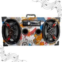 Caixa Amplificada Bluetooth UBS 6x9 Bomber Rádio - Music -