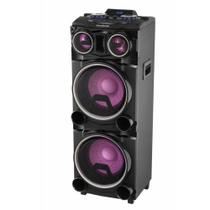 Caixa Amplificada Gradiente Power Bass LED Bluetooth Karaokê GCA103 -