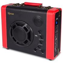 Caixa amplificada Portátil Retro Raveo Pulse 30w Bluetooth Auxiliar USB Bateria -
