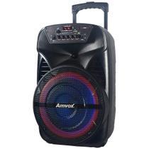 Caixa Amplificadora Amvox ACA-280, Bluetooth, Entradas AUX/USB/TFCARD, RádioFM e Função Gravar -