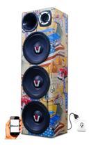 Caixa Ativa 3 Woofer Radio Bluetooth Usb Residencial Taramps - Oestesom