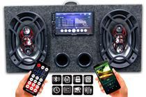 Caixa Ativa 6x9 Bravox + Central Multimidia Usb Bluetooth Espelhamento - Oestesom