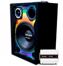 Caixa Ativa Colorida Alto Falante 7Driver + Modulo Taramps 800x4 - Oestesom