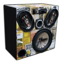 Caixa Ativa Falcon Bluetooth Hurricane 12  + 6x9  + Tweeter - Oestesom