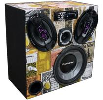 Caixa Ativa Taramps Bluetooth Pioneer 12  + 6x9  + Tweeter - Oestesom