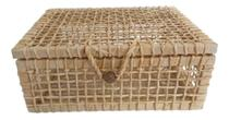 Caixa Baú Palha De Milho Presente Ref.2604201 34 X 22 X 16 - Stories Loja