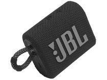 Caixa Bluetooth JBL GO3 Preta com Potência de 4,2W JBL -