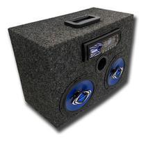 Caixa bob ativa mp3 bt usb cm6 hurricane carpete grafite residencial - Like Parts