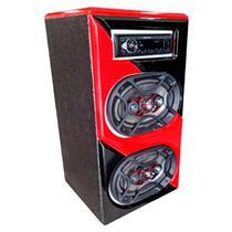Caixa Bob Bluetooth 6x9 Bravox Rádio Pioneer 140w Rms Bivolt - Alde Box
