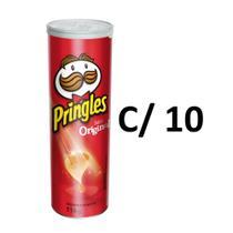 Caixa c/ 10 unidades de Batata Pringles original 114 g -