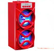 Caixa Caixinha De Som Portatil amplificada selada Bluetooth Usb Pen Drive Mp3 2 falantes 10w Vermelho - Ms
