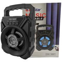 Caixa Caixinha de Som Portátil Bluetooth, Mp3, Rádio Fm, Sd Card, Pendrive Usb Preto - Livstar