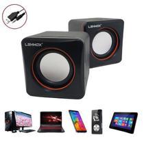 Caixa Caixinha de Som Portatil USB P2 PC TV Celular Notebook 5w - Lehmox